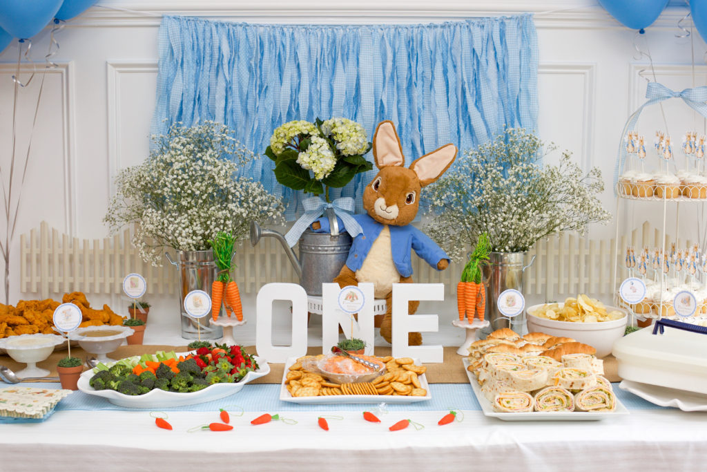 Peter Rabbit Themed First Birthday Party Home And Hallow