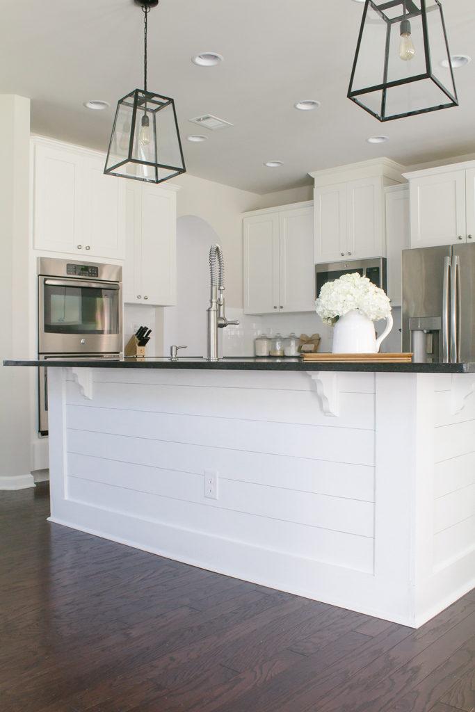 Easy + Affordable DIY Kitchen Island Shiplap
